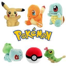 Pokémons Pikachu Eevee Bulbassaur Snorlax Psyduck Charmander Cartepie  Pokebola