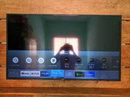 """50"""" Smart TV Samsung 4K + painel e suporte"""