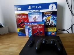 Título do anúncio: PS4 Slim 1tb - Na caixa c/ Garantia até 02/22