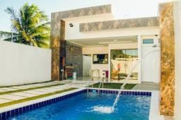 Casa de Luxo na Praia de Carapibus com 3 Suítes, Piscina, 200m do mar R$ 500.000,00