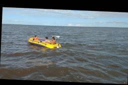 Título do anúncio: Bote inflável 4 pessoas com motor náutico 54lb