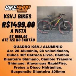 Bicicleta KSVJ - Freio Hidráulico - Câmbios Shimano