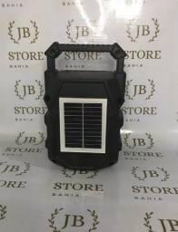 Caixa de som com placa solar