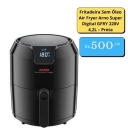 Fritadeira Sem Óleo Air Fryer Arno Super Digital GFRY 220V 4,2L ? Preta