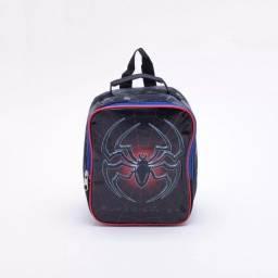 Lancheira Seanite Infantil Super Spider Masculina - Preto