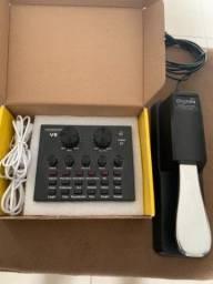 Pedal de sustain ,interface de áudio,placa de áudio