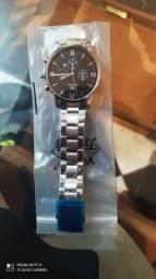 Relógio de Quartzo em Aço Inoxidável Masculino / Relógio de Pulso