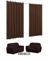 Kit capa 3lugar Lisa+cortina Roma 2, 00 X 2,40