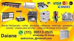 Equipamentos p/ estabelecimento comercial, fogao, geladeira, balcao, forno, fogao