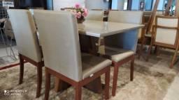 Título do anúncio: Mesa de jantar aconchegante retangular de 4 pintura laka
