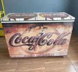 Título do anúncio: Freezer Horizontal Branco Adesivado Coca Cola 220v