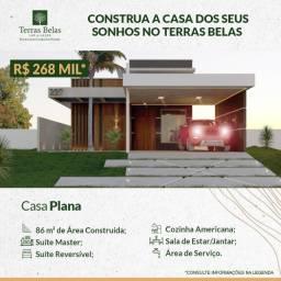 Casa Funcional Plana em Condomínio Fechado