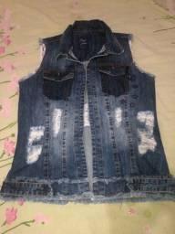 Título do anúncio: Colete jeans 80,00 reais