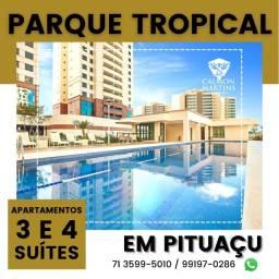 Título do anúncio: Apartamentos em 155m² com 4 suítes, 3 vagas, vista mar - Patamares