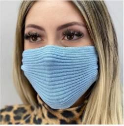 Máscara em tricô das blogueiras