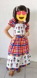 Vestido Junino das bonecas LOL para meninas