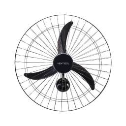 Ventilador de Parede 50cm e 60cm Premium Preto 127V e Bivolt Ventisol