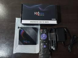 Título do anúncio: Tv box H96 Max 6k com conteúdos