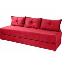 Sofa cama com 3 almofadas - direto de fábrica - super promoção