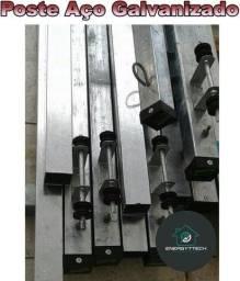 Venda ou Instalação de Poste Padrão Light De Aço Galvanizado 6 e 7,5 mtrs. Parcelamos
