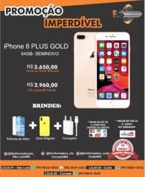 """IPhone 8 plus 64gb Gold semi novo"""""""