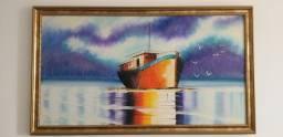 Título do anúncio: Pintura Barco com moldura