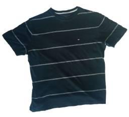 Camisa Masculina Tommy Hilfiger 100% Algodão Preta