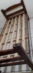 Título do anúncio: Cama de Madeira (Solteiro)