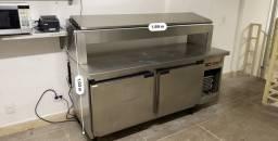 Refrigerador 2 portas com porta cubas para pizza