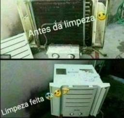 FAÇO LIMPEZA DE AR CONDICIONADO DE JANELA APARTI DE 99 REAIS