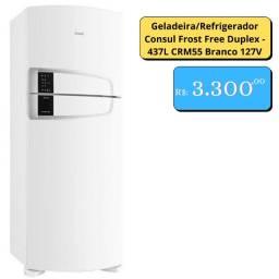 Geladeira/Refrigerador Consul Frost Free Duplex - 437L CRM55 Branco 127V