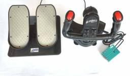 Manche joystick simulador para avião e carros