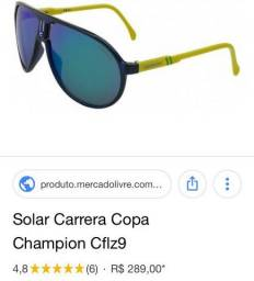 Oculos de sol carrera copa champion 250 venda ou troca