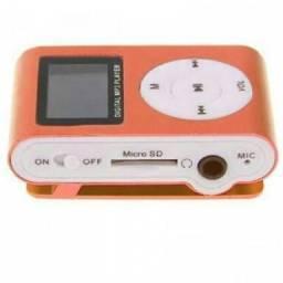 Mini Mp3 player microfone e Cabo USB carregar