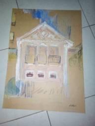 Alfredo Volpi óleo sobre tela 70x50 cm