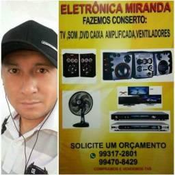Técnico em eletrônica consertos em tv,s som