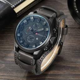 Relógio masculino Curren novo pulseira estilo couro