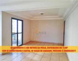 Apartamento para alugar, 113 m² por R$ 2.700,00/mês - Vila Guilhermina - Praia Grande/SP