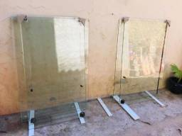 3 Janela de vidro temperado com as fechaduras 2 folhas 1.50x1.20 / 1.40x120 / 1.35x120 comprar usado  São Paulo