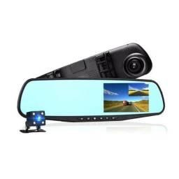Espelho Retrovisor Lcd Colorido de 4,3 com Câmera Frontal Full hd e Câmera de Ré Kit