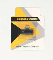 Adaptador Lightning Splitter Carregador e Fone Iphone 7 8 X Novo na Caixa