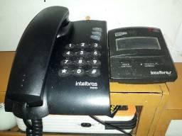Telefone Intelbras Pleno com fio e aparelho de Minibina