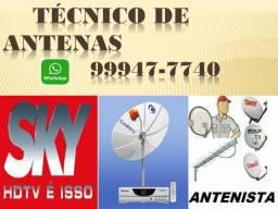Sky sat/profissional técnico em antenas