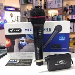 Microfone Sem Fio Profissional Karaokê Igreja festa shows