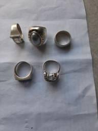 Vendo 5 anel de Prata