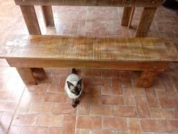 Mesa com banco entrego
