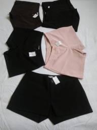 Shorts Femininos de tecidos novos.