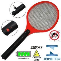 Raquete mata mosquito recarregável