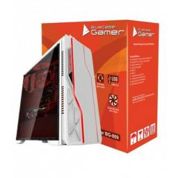 Gabinete Bluecase Gamer Bg-009 Branco Painel Rgb Usb 3.0