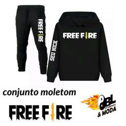 Conjunto moletom Free Fire angelical